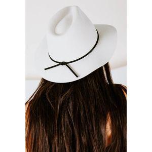 Brixton Wesley Fedora Medium-Brim Felt Hat in Dove
